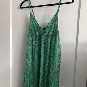Gypsy 05 green floral maxi dress